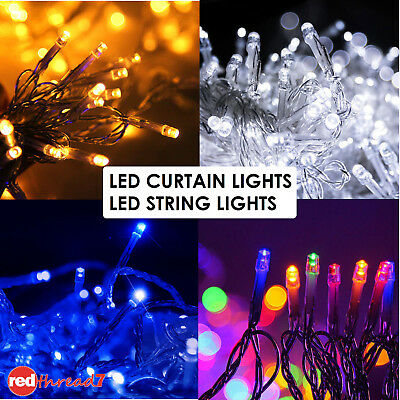 Fairy Christmas Lights String 50M 100M 250 300 500 600 LED Curtain Wedding Party