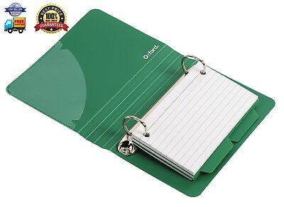 Oxford Poly Index Card Binder, 3 x 5 Inches, Color Will Vary, Includes 50 Pre-Pu