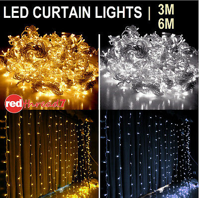 Christmas Curtain String Fairy Lights 300 600 LED Wedding Party Outdoor Lighting