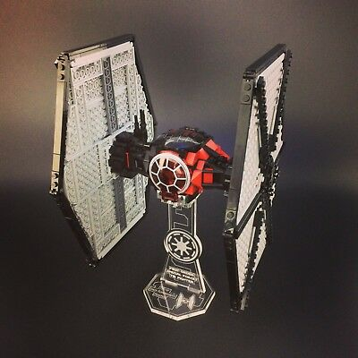 Display stand for LEGO Star Wars: First Order Special Forces TIE Fighter (75101)