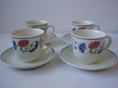 Bhs Priory 4 X Cups And Saucers