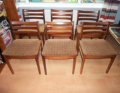 Danish style Teak low back dining chairs x6 JS-S