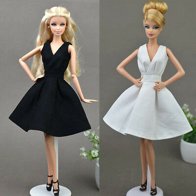 New 2 PCS Fashion Clothes/outfit lovely Dress for Barbie doll S02u