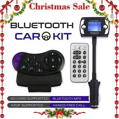 LCD Bluetooth Car Kit MP3 Player FM Transmitter Modulator USB Wireless Remote