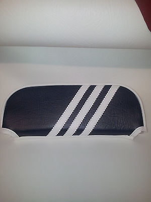 ajs modena/milano Slipover Back Rest Pad Three Stripe Design