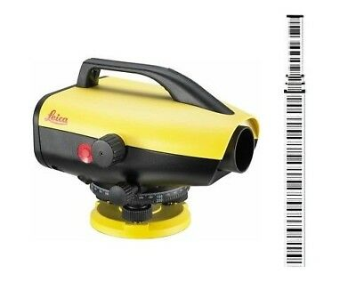 Leica Sprinter 150M Electric Level w/ 16.4ft Barcode Rod Pack 6002134