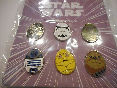 Star Wars 2016 Easter Egg Booster Lot Of 6 Disney Pins *****NEW*****