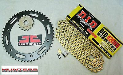 Honda CBR125 2004 to 2010  DID Gold Heavy Duty Japanese Chain & JT Sprocket Kit