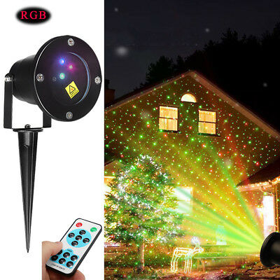 Outdoor RGB Dynamic LED Laser Stage Projector Light Garden Xmas Party Lighting