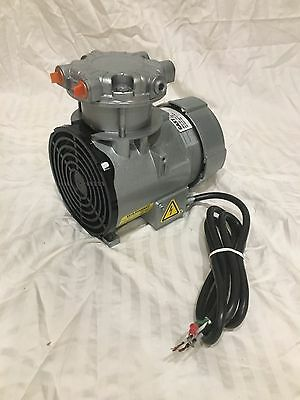 GAST ROA-P201-AA ROC-R Piston Air Compressor/Vacuum Pump 1/8 HP 115 VAC 60HZ NEW