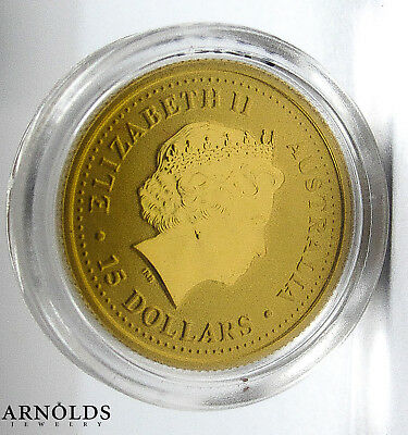 2005 Australian 15 Dollars Nugget Proof Gold Coin - 1/10 OZ .9999 Gold