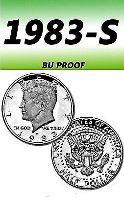 1983-S KENNEDY NICE BRIGHT CLEAR UNCIRCULATED HALF DOLLAR.==PROOF===C//N===