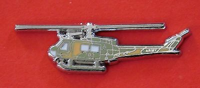 Uh1H Huey Helicopter Lapel Badge Enamel & Silver Plating 35Mm Long With 2 Pins