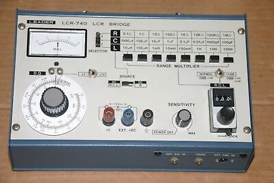 Leader LCR bridge model LCR-740 W/Box  and User Manual on CD