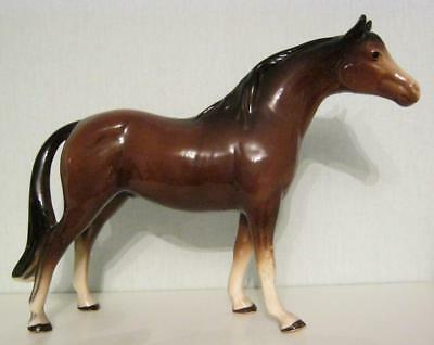 "Cooper Melba Ware Brown Gloss Horse 9"" - ear slightly damaged"