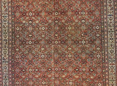 Magnificent Malayer - 1880s Antique Persian Herati - Gallery Rug - 6.5 x 16.5 ft