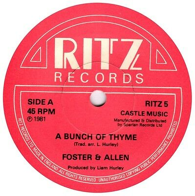"""Foster & Allen - A Bunch Of Thyme - UK 7"""" Single"""