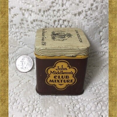 Vintage John Middleton's Club Mixture Tobacco Advertising Tin