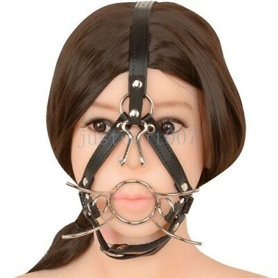 O-Ring Spider Stainless Steel Open Mouth Ring Gag Head Harness Restraint hood