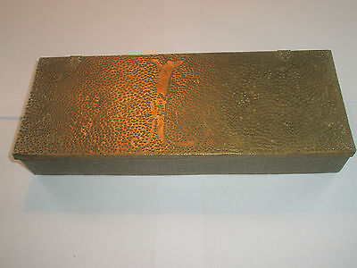 Vintage 1910 Apollo Studios NY Hammered Copper Arts & Crafts Wood Lined Desk Box