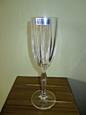 """Marquis by Waterford Clear Cut Lead Crystal Champagne Flute New w/ Sticker 8.5"""""""