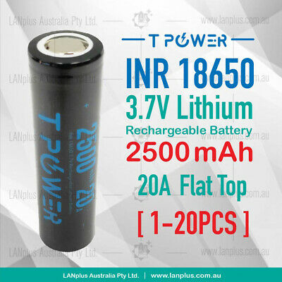 Naccon 3.7V ICR18650 2600mAh Flat Top True Capacity Lithium Rechargeable Battery