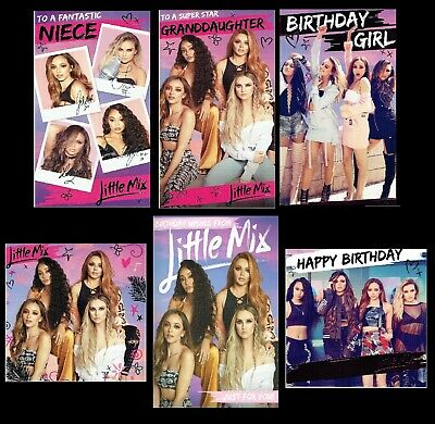 OFFICIAL ~ LITTLE MIX  Birthday Card Daughter Sister Granddaughter Niece or Open