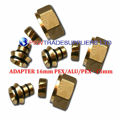 EUROCONE CONNECTOR for UFH ADAPTER 16mm PIPE x 15mm Compression Fittings