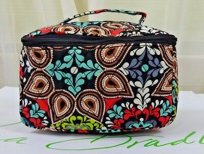 NWT Vera Bradley Travel Cosmetic Makeup Bag Case SIERRA 15016 Ships Free