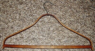 RARE BENTWOOD CENTRAL DRY CLEANING Co BUFFALO NY 1940s  Wooden Clothes Hanger