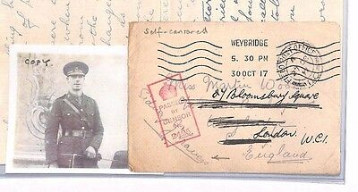MS2496* 1917 WW1 GB FORCES *Censorship Officer* ITALY  CONTENTS