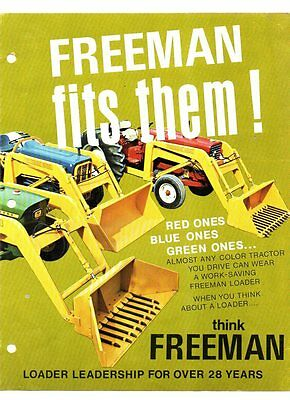 Freeman loaders brochure 1970s