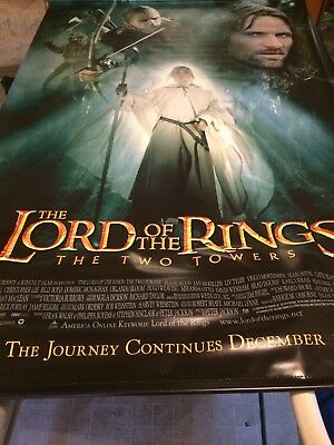Lord Of The Rings The Two Towers Movie Banner Vinyl