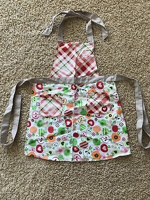 NEW 31 Thirty-One Apple Print Cotton Kids Apron