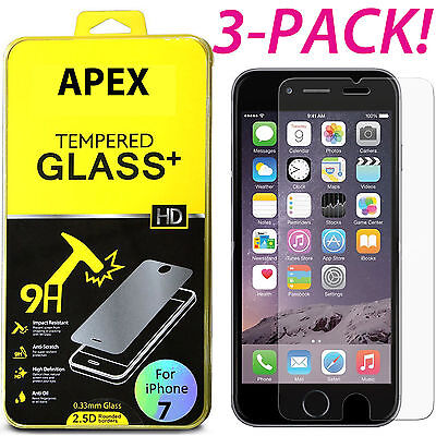 Premium Real Tempered Glass Screen Protector for Apple iPhone  7S Plus