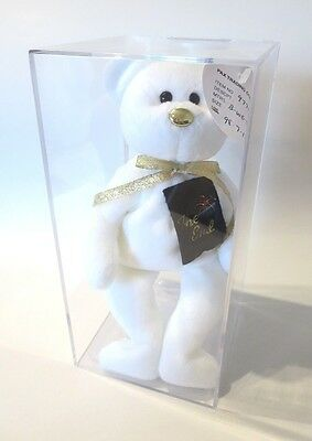 """Authenticated Ty PROTOTYPE Alternate White THE END BEAR """"RARE & EXQUISITE"""" MQ!"""