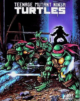 "1986 First Comics Teenage Mutant Ninja Turtles 22"" x 28"" Poster -Never Unrolled!"