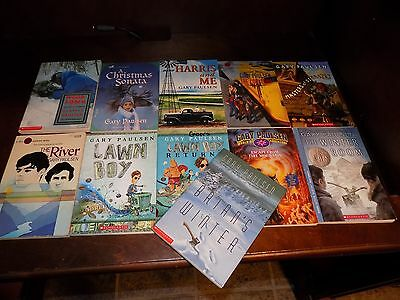 Lot of 11 Gary Paulsen books PB