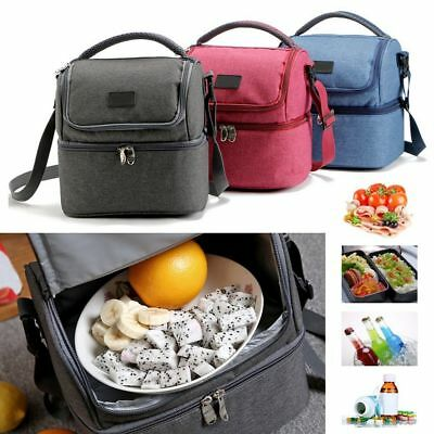 LunchBox Tote Hot Cold Insulated Thermal Cooler Travel Work School Picnic Bag