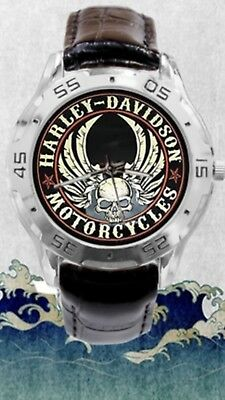 Harley Davidson watch with leather strap.  Mint