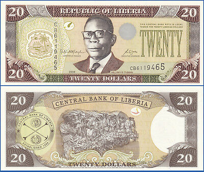 LIBERIA 2006 20 DOLLARS P-28c UNC US Seller