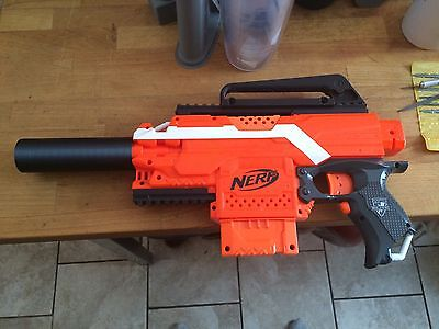 3D Printed  Carbon Fiber Silencer Barrel for Nerf Stryfe Gun(not the gun)