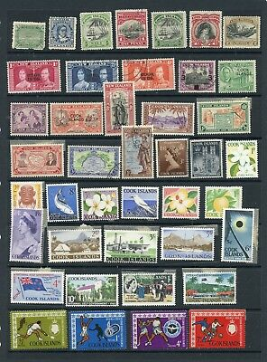 COOK ISLANDS--Accumulation of 88 Stamps