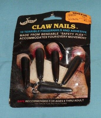 vintage Imagineering Halloween CLAW NAILS MOC costume make-up