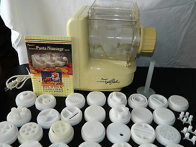 Electric Automatic PASTA DEER SAUSAGE MACHINE POPEIL P200  40 Attachments & Book
