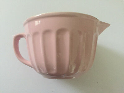 Williams Sonoma Pink Mixing / Pouring Batter Bowl w/ Handle