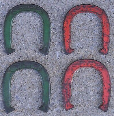 Vtg Double Ringer Horseshoes Set Official Diamond Duluth Minnesota 2 1/2 lbs