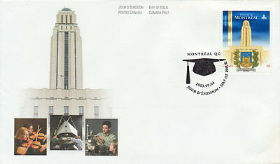 Canada #1977 48¢ University Of Montreal First Day Cover