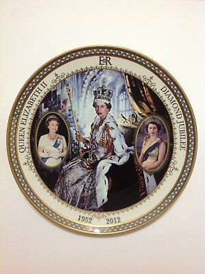 Queen Elizabeth II Diamond Jubilee Plate by The Bradford Exchange