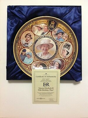 Queen Elizabeth II 90th Birthday Plate by The Bradford Exchange